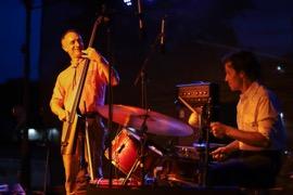 Brian Beattie and Adam Jones of Bill Callahan's band