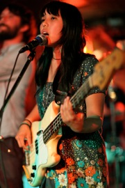 Sara Bertuldo of Tim Kasher's band
